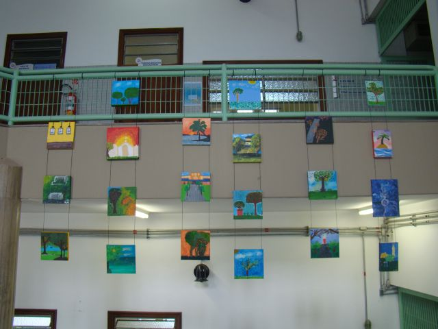 Alunos dos 9ºs anos expõem suas Pinturas Impressionistas