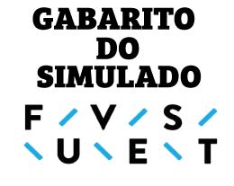 Confiram o gabarito do Simulado FUVEST 2019