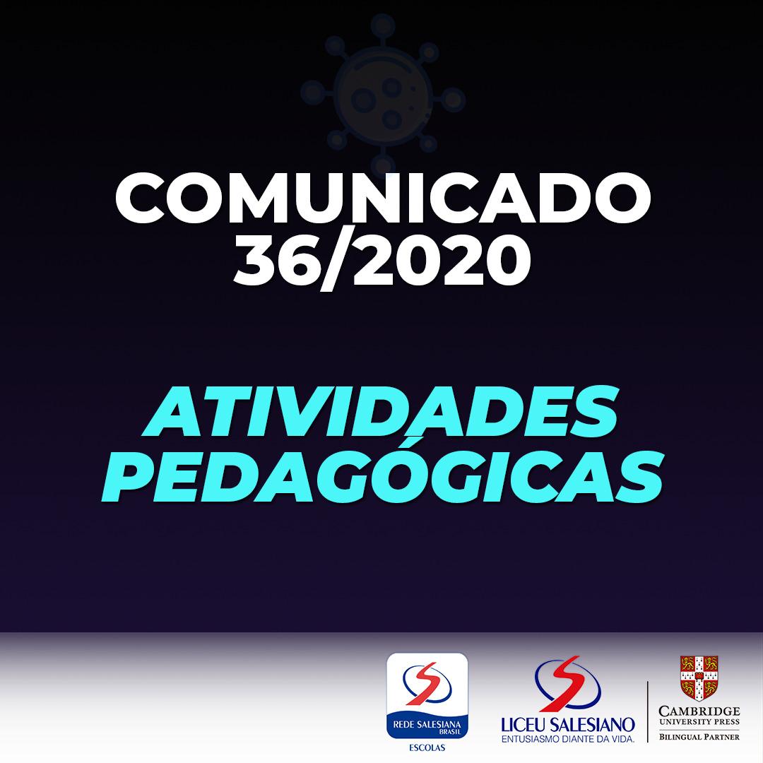 COMUNICADO 36/2020