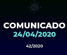 COMUNICADO 42/2020