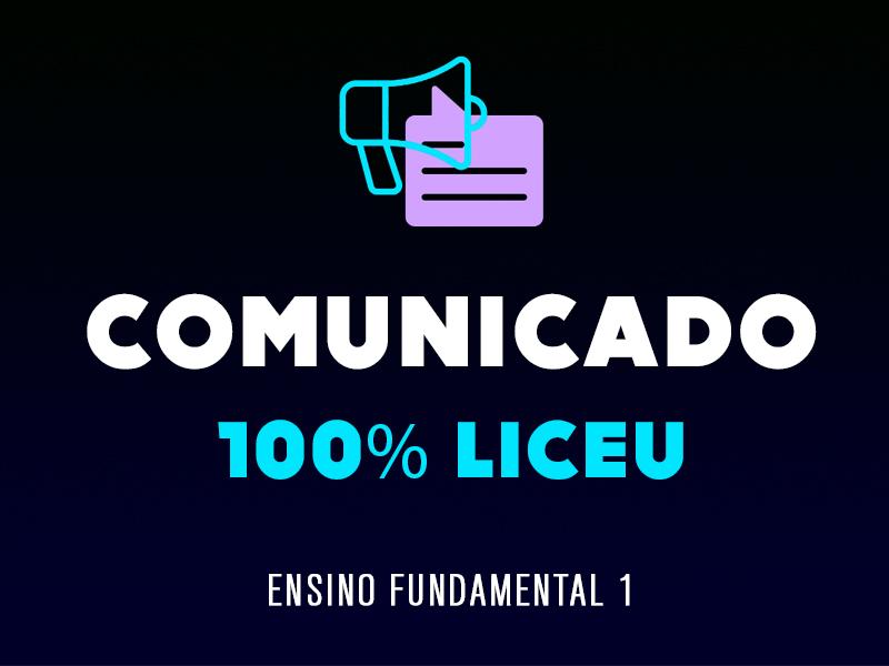 100% LICEU | ENSINO FUNDAMENTAL 1