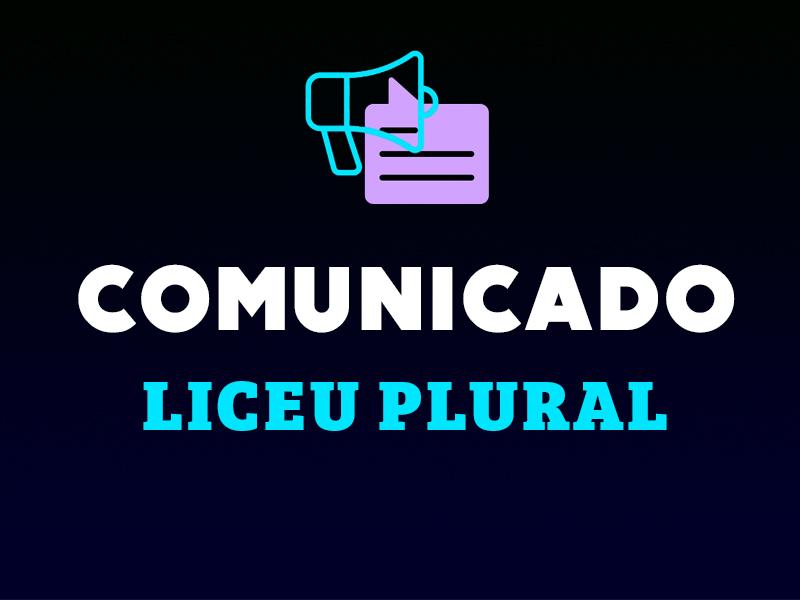 LICEU PLURAL | SUSPENSÃO DAS ATIVIDADES