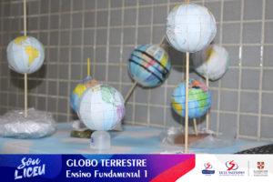 Globo Terrestre desenvolvidos pelos alunos dos 3.º anos.